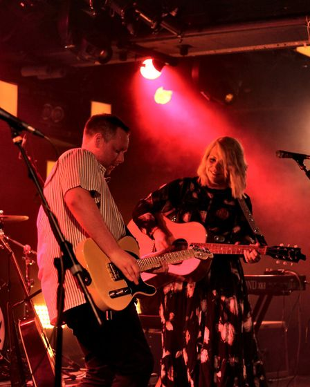 Sam Coe and the Long Shadows performing at The Waterfront Sessions. Picture: Elliot Tam