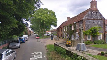 Firefighters from Dereham and Massingham battled a vehicle fire in Castle Acre. Picture: Google