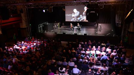 Actor Christopher Eccleston speaking at Norwich Film Festival. Photo: Emma Louise Smith