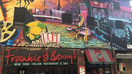 Norwich's largest mural has been unveiled at Frankie & Benny's, Riverside. Photo: Jessica Frank-Keye