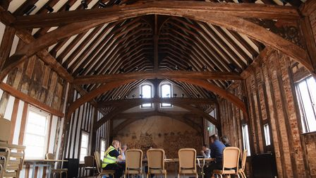 Dragon Hall, the National Centre for Writing in the main hall. Picture: DENISE BRADLEY