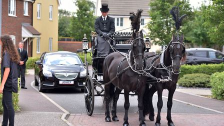 The funeral procession for David Bridge, Old Catton. Picture: Jamie Honeywood