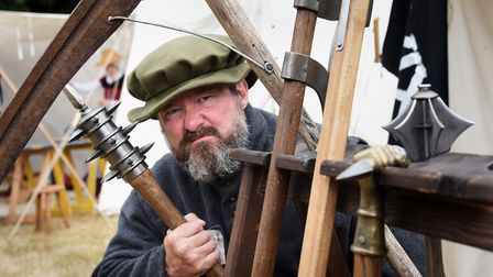 Steven Payne from Black Knight Historical, with some of his weapons ready for the rebellion in the T