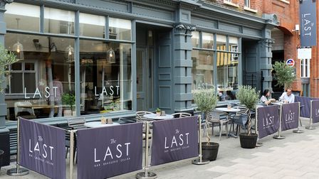 The exterior and terrace of the Last Brasserie Picture: Newman Associates PR