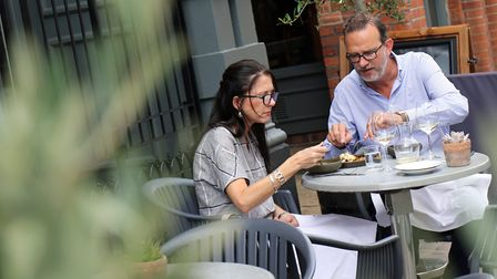 Diners enjoy the new terrace at The Last Brasserie Picture: Newman Associates PR