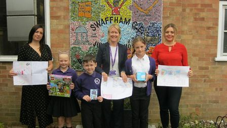 Swaffham Junior School pupil Faith Askew-Patten (second from right) won a competition to name a new