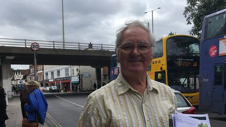Eric Kirk, who criticised First's handling of a broken down bus on Magdalen Street. Picture: SOPHIE