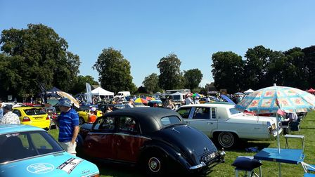 Hundreds enjoyed an afternoon of classic car spotting and family fun in Swaffham. Picture: Sue Dent