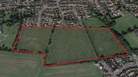 The development site for 177 new homes in Watton. Photo: Google Maps
