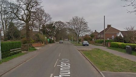 File photo of Thunder Lane in Thorpe St Andrew where there was a burglary on Saturday evening. Pictu