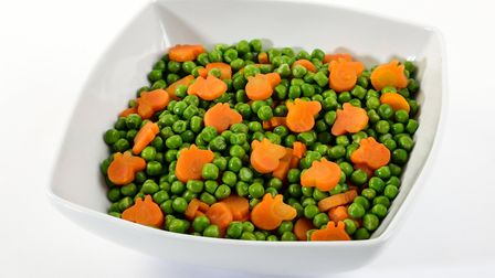 Peppa Pig peas and carrots have been launched by The Fun Food Family. Picture: AP East Anglia