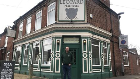 Bob Utting, the Landlord of The Leopard pub, which won Camra 'pub of the year' award earlier this ye