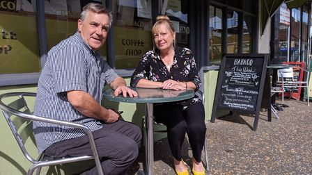 Peter and Sandra Merry are selling their cafe Babaco in Watton. Picture: Marc Betts