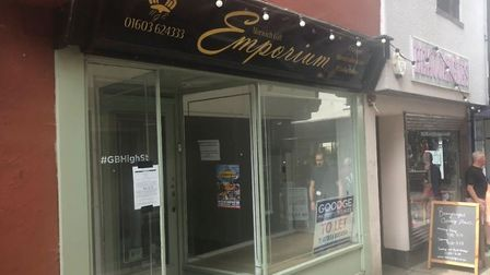 The former Norwich Gift Emporium which could be turned into a French bistro after a planning applica