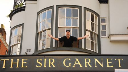 Paul Bryan overlooking Norwich Market at the Sir Garnet. Picture: DENISE BRADLEY