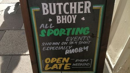The Butcher Bhoy is one of the pubs in Norwich planning to open early to show the England matches. P