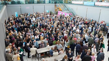 On Tuesday night, more than 1,200 diners congregated in The Forum for the start of Lloyd Addison's M