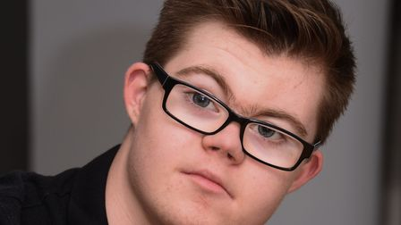 Thomas Smith, 17, of Attleborough, who has just appeared in a music video and a TV advert, as he sta