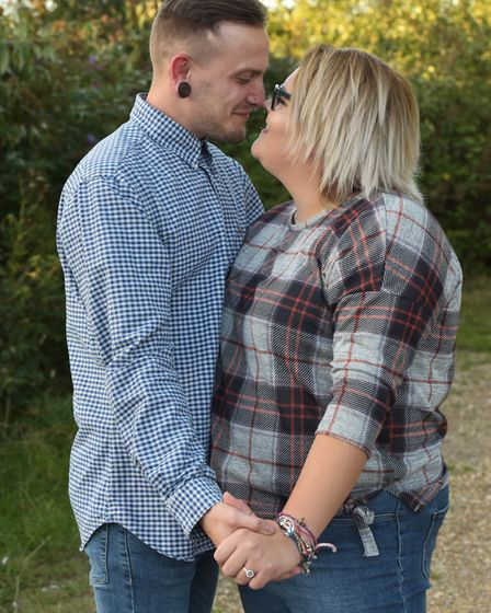 Paul Page and Georgia Clarke got engaged at Watton Carnival after he got on stage and proposed in fr
