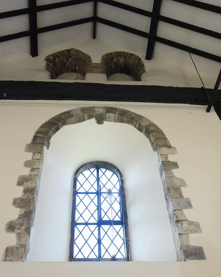 One of the different style windows of the 900-year-old Lazar House in Sprowston. Picture: DENISE BRA