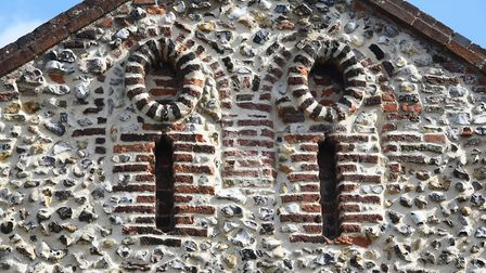 Decoration on the wall of the 900-year-old Lazar House in Sprowston. Picture: DENISE BRADLEY