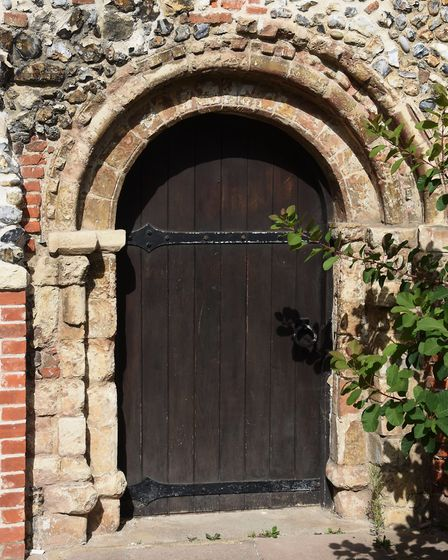 One of the old doors to the 900-year-old Lazar House in Sprowston. Picture: DENISE BRADLEY