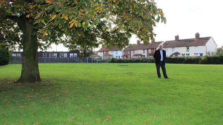 David Winch, director of The Land Group, at the site next to the former Chapel Road Primary School i