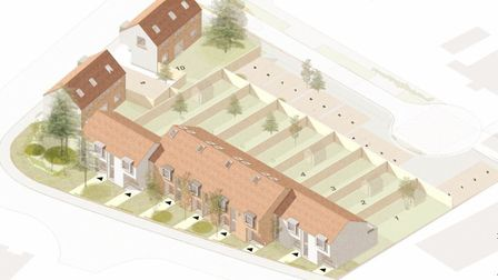 Ten new homes will be built on land next to the former Chapel Road Primary School in Attleborough. P