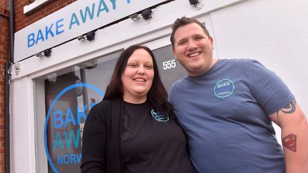 Nikita and Terry Pegler at Bake Away, Sprowston Road, Norwich. Picture: Jamie Honeywood