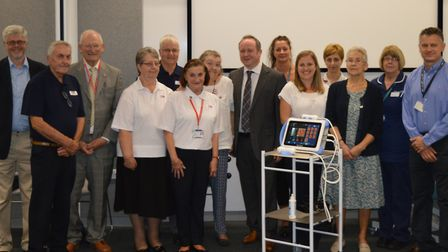 A life-saving FibroScan liver scanner has been unveiled at NNUH following a donation by Norfolk and
