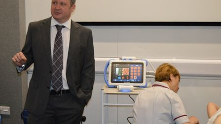 Consultant hepatologist Dr Simon Rushbrook at NNUH following the unveiling of the FibroScan. Picture