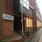 The flats at 60 St Faiths Lane in Norwich, have been boarded up. Photo: Archant