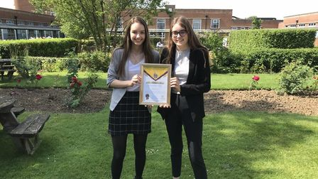 As part of their study programme two students, Etholle Hughes and Emma-Louise Cooling, volunteered