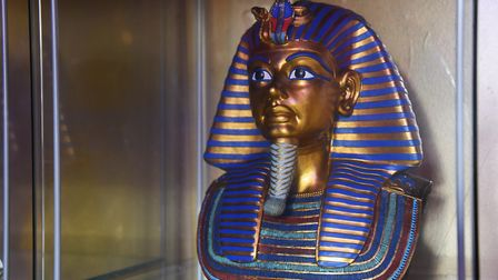 A copy of one of the Egyptian artefacts from Tutankhamun's tomb on display in Susan Allen's Tutankha
