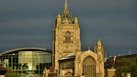 The Forum and St Peter Mancroft church in Norwich. Picture: Andrew Atterwell