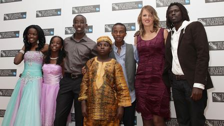 The cast of the film Africa United (left to right) Sherrie Silver, Sanyu Joanita Kintu, Roger Nsengi