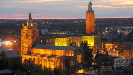 Norwich has been awarded Purple Flag status for the third year running..Photo : Steve Adams