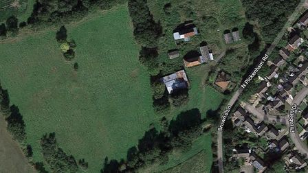 The site off North Pickenham Lane in Necton, where 75 homes have been proposed. Picture: Google Maps