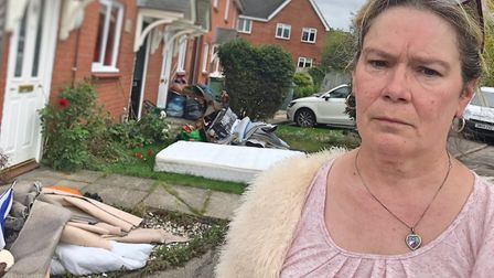 Carole Roughley is one of six residents on Pikeman Place in Thorpe St Andrew whose home was damaged