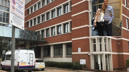 Daniel and Victoria King were charged £320 for three minutes of parking at Sentinel House. Picture: