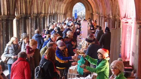 The first Norfolk Christmas Fayre at Norwich Cathedral. Picture: DENISE BRADLEY