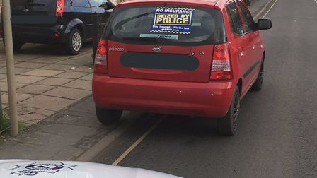 A motorist was caught driving his mother's car while uninsured. Picture: Breckland Police