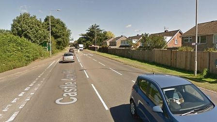An accident has caused part of Castle Acre Road, Swaffham, to be shut. Picture: Google StreetView
