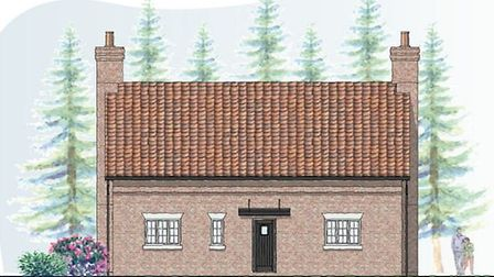 An illustration of the proposed home off Beachamwell Road, Drymere. It was designed to look the same