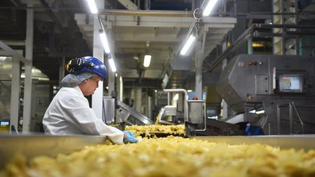 Kettle Chips being produced in Norwich. Pic; Archant