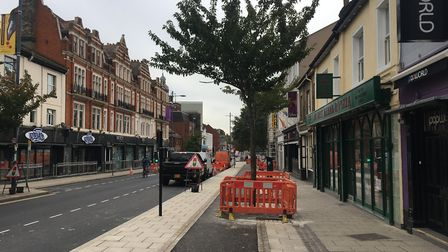 Prince of Wales Road in Norwich is set for a week of overnight closures Pic: Dan Grimmer.