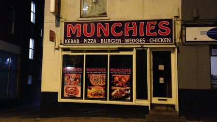 Munchies takeaway, in St Vedast Street, Norwich, has been given a food hygiene rating of one. Pictur