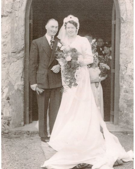 John and Ella Lister married in Deopham, 1949, and will soon celebrate their 70th wedding anniversar