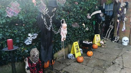 The Halloween house on Victoria Street, Norwich. Photo: Archant