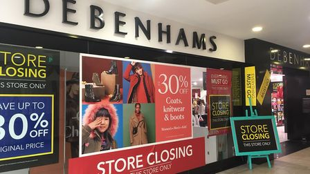 A closing down sale has been launched at Debenhams in Great Yarmouth Picture: Liz Coates